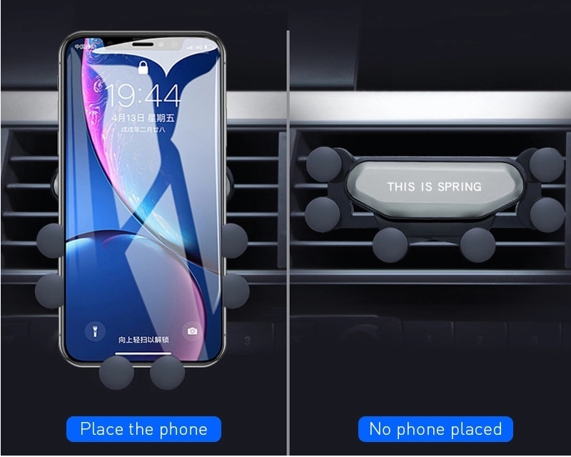 2020 New One Universal Car Phone Holder GPS Stand Gravity Stand For Phone in Car Stand No Magnetic For iPhone X 8 Xiaomi Support