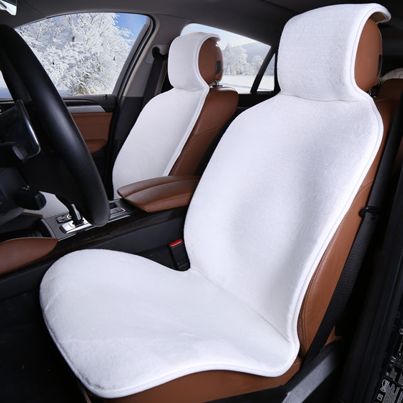 Faux Fur Car Seat Cover Car Accessories Color Name : Black 1 Front|Yellow 2 pc|White 2 pc|Gray 2 pc|Beige 2 pc|Black 2 pc|Red 2 pc